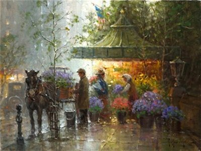 Springtime In Central Park- Signed By The Artist – CanvasGiclee – Limited Edition – 95S/N – 12x16