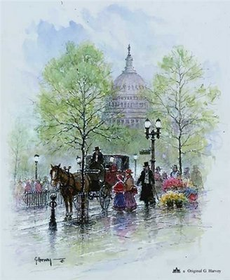 Springtime In Washington- Signed By The Artist – PaperSerigraph – Limited Edition – 550S/N – 12x9