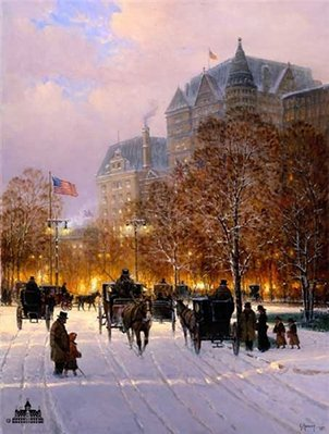 A Stroll On The Plaza- Signed By The Artist								 – Paper Lithograph – Limited Edition – 1950 S/N – 30 x 22 1/2