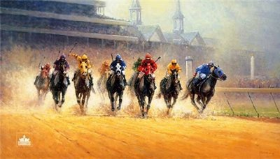 Test Of Champions- Signed By The Artist – PaperLithograph – Limited Edition – 1950S/N – 19x33 1/4 –
