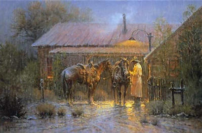 Texas Rancher- Signed By The Artist								 – Paper Lithograph – Limited Edition – 1250 S/N – 18 x 27