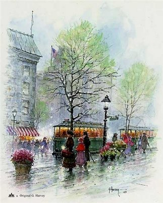 Trolleys On Broadway- Signed By The Artist – PaperSerigraph – Limited Edition – 550S/N – 12x9