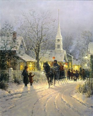 The Village Carolers- Signed By The Artist – PaperLithograph – Limited Edition – 4777S/N – 22 1/2x18
