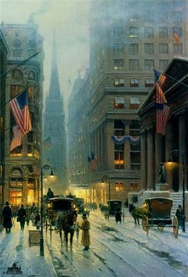 Wall Street – New York- Signed By The Artist – PaperLithograph – Limited Edition – 4378S/N – 30x20