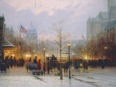 Inauguration Eve- Signed By The Artist								 – Canvas Giclee – Limited Edition – 395 S/N – 36 x 48