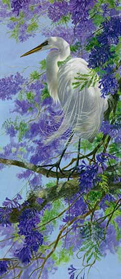 Enchanted April- Signed By The Artist – PaperGiclee  – Limited Edition  – 350S/N  –  24 1/4x10 5/8