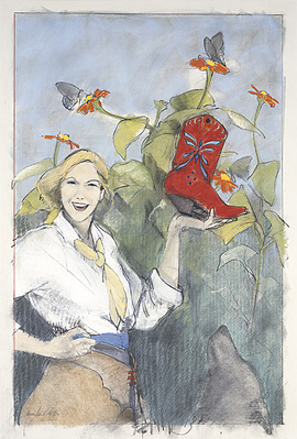 Butterfly Boots III- Signed By The Artist								 – Paper Giclee – Limited Edition – 100 S/N – 30 x 20
