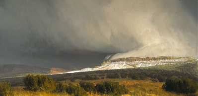 Snow Squalls, Central Utah- Signed By The Artist – PaperLithograph  – Limited Edition  – 50A/P  –  16 1/4x32 1/4