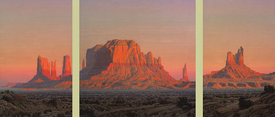 The Utah Suite – Monument Valley (3-Piece Set)- Signed By The Artist								 – Canvas Giclee – Limited Edition – 550 S/N – 24 x 54