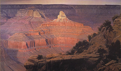 Edge Of Winter – Grand Canyon- Signed By The Artist – PaperLithograph  – Limited Edition  – 475S/N  –  19 3/4x32 1/4