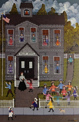 Valley School- Signed By The Artist – PaperLithograph  – Limited Edition  – 950S/N  –  13 1/2x9