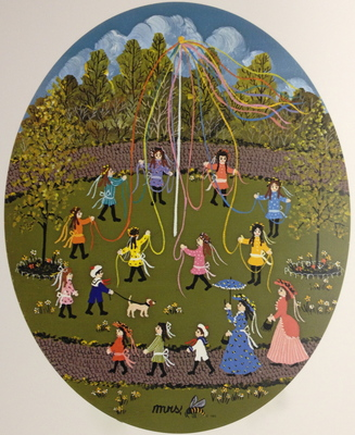 The Maypole- Signed By The Artist – PaperLithograph  – Limited Edition  – 950S/N  –  9 5/8x7 3/4