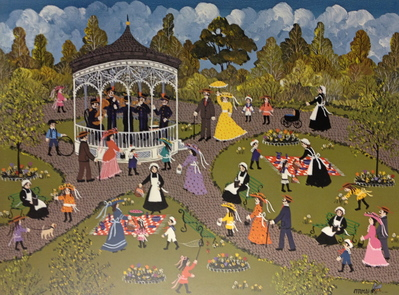 Concert In The Park- Signed By The Artist – PaperLithograph  – Limited Edition  – 950S/N  –  11 3/4x15 3/4