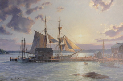Sunset Over The Westport River In 1862- Signed By The Artist – PaperLithograph – Limited Edition – 500S/N – 15x22 1/2