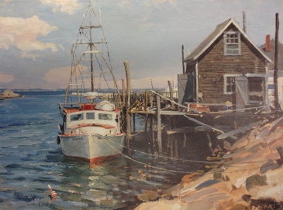 Menemsha Creek, Martha's Vineyard- Signed By The Artist								 – Paper Lithograph – Limited Edition – 500 S/N – 11 3/4 x 15 5/8
