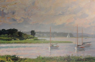 A View Over The Westport River- Signed By The Artist								 – Paper Lithograph – Limited Edition – 650 S/N – 8 3/8 x 12 1/2