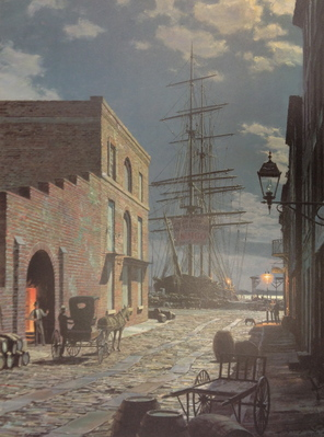 Charleston, Prioleau Street In 1870- Signed By The Artist								 – Paper Lithograph – Limited Edition – 950 S/N – 21 1/2 x 16