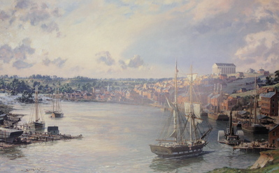 Richmond, A View Of The City From The Banks Of The James River In 1858- Signed By The Artist – PaperLithograph – Limited Edition – 550S/N – 20x31 5/8