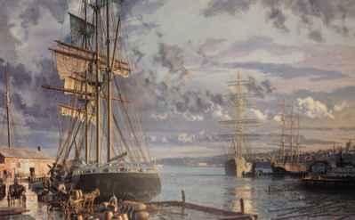 Seattle, A View Looking North From Yester's Wharf C. 1880- Signed By The Artist – PaperLithograph – Limited Edition – 950S/N – 18 7/8x30