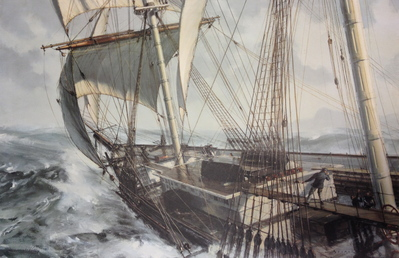 Lightning Rounding Cape Horn- Signed By The Artist								 – Paper Lithograph – Limited Edition – 750 S/N – 19 1/4 x 29