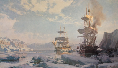 Whaling In The Arctic, The Charles W. Morgan 'cutting In' In 1884- Signed By The Artist – PaperLithograph – Limited Edition – 850S/N – 19 1/2x32 1/2