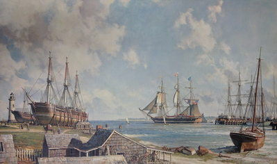 Sailing Day, Nantucket, In 1841- Signed By The Artist – PaperLithograph – Limited Edition – 750S/N – 19 1/2x32 3/8