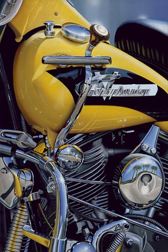 1956 Panhead- Signed By The Artist								 – Canvas Giclee – Limited Edition – 100 P/P – 30 x 20