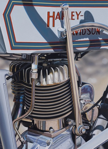 1914 Harley-Davidson- Signed By The Artist								 – Canvas Giclee – Limited Edition – 50 S/N – 22 x 16