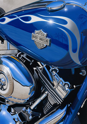 Flames & Chrome Destination Unknown- Signed By The Artist – CanvasGiclee – Limited Edition – 50S/N – 20x14