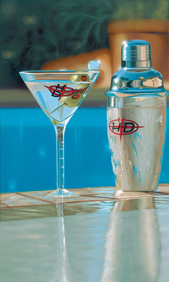 Shaken, Not Stirred- Signed By The Artist – CanvasGiclee – Limited Edition – 100P/P – 25x15