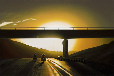 Some Ride, Sunset – Sturgis- Signed By The Artist								 – Canvas Giclee – Limited Edition – 100 S/N – 19 x 29