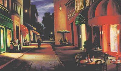 Evening Shadows In AIX- Signed By The Artist								 – Paper Giclee – Limited Edition – 240 S/N – 14 x 23 1/2