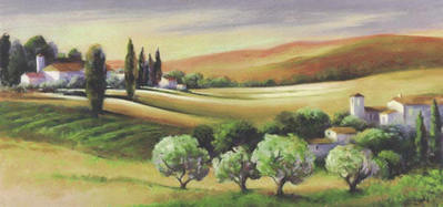 Tuscan Light- Signed By The Artist								 – Paper Giclee – Limited Edition – 220 S/N – 15 3/4 x 33 1/2