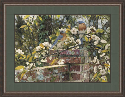 Backyard Blues – Framed- Signed By The Artist – PaperLithograph – Limited Edition – 1500S/N – 15 1/2x22 1/4 –
