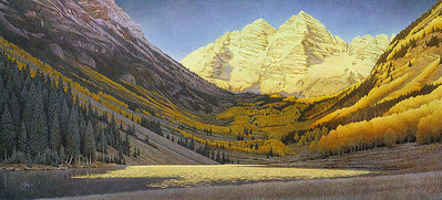 Rocky Mountain Gold- Signed By The Artist – PaperLithograph – Limited Edition – 550S/N – 15 5/8x35