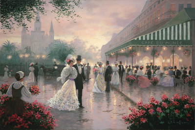 Cafe Du Monde- Signed By The Artist								 – Canvas Giclee 								 – Limited Edition 								 – 280 S/N 								 –  								24 x 36