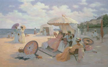 A Day At The Beach- Signed By The Artist								 – Canvas Giclee – Limited Edition – 180 S/N – 30 x 40