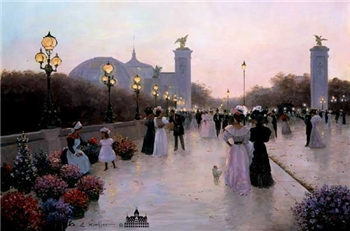Encounter On La Pont Alexandre- Signed By The Artist – CanvasLithograph – Limited Edition – 495S/N – 20x30