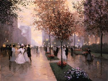 Going To The Plaza- Signed By The Artist – CanvasGiclee – Limited Edition – 495S/N – 18x24