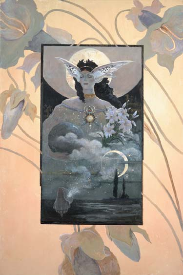 Moon Goddess- Signed By The Artist – CanvasGiclee – Limited Edition – 180S/N – 36x24