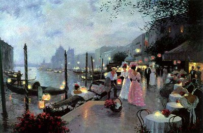 Night Festival In Venice- Signed By The Artist – CanvasLithograph – Limited Edition – 495S/N – 20x30