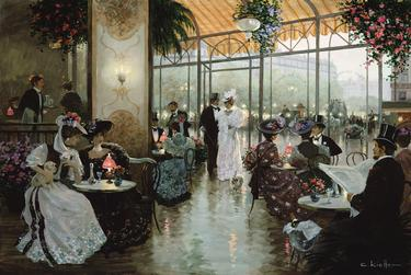 Parisian Cafe- Signed By The Artist								 – Canvas Giclee – Limited Edition – 180 S/N – 24 x 36
