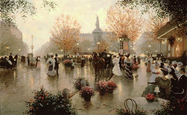 Place De La Republique- Signed By The Artist – CanvasGiclee – Limited Edition – 180S/N – 30x48