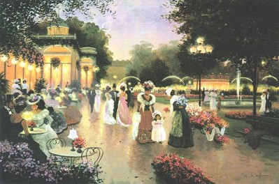 A Stroll By Moonlight- Signed By The Artist – CanvasLithograph – Limited Edition – 495S/N – 24x36