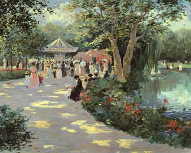Sunday In The Park- Signed By The Artist – CanvasGiclee – Limited Edition – 180S/N – 24x30 –