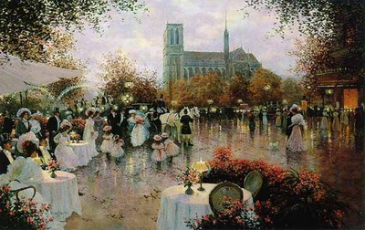 The Wedding Party, Notre Dame, Paris- Signed By The Artist – PaperLithograph – Limited Edition – 1250S/N – 21x33 1/2