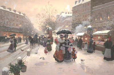 Winter Pleasures- Signed By The Artist								 – Canvas Giclee – Limited Edition – 180 S/N – 24 x 36
