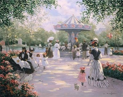 A Parisian Carousel- Signed By The Artist								 – Canvas Lithograph – Limited Edition – 500 S/N – 22 x 28