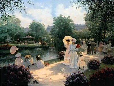 A Stroll In The Park- Signed By The Artist – CanvasLithograph – Limited Edition – 495S/N – 22x28