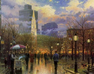 Boston (16 X 20 Paper)- Signed By The Artist – PaperLithograph – Limited Edition – 550S/N – 16x20